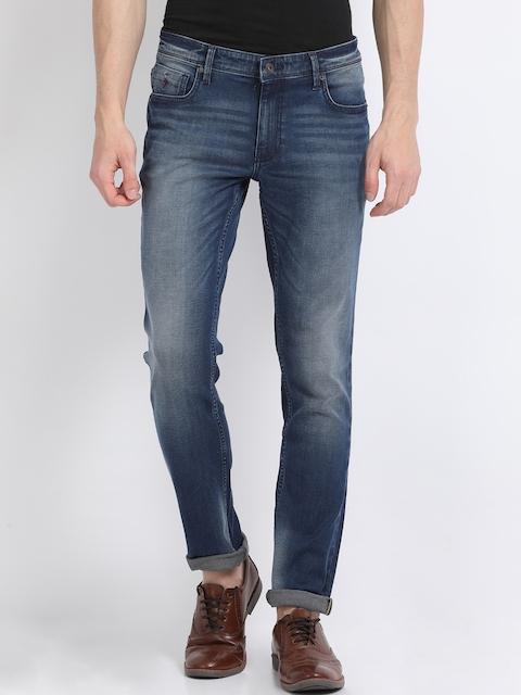 Indian Terrain Men Blue Skinny Fit Mid-Rise Clean Look Jeans