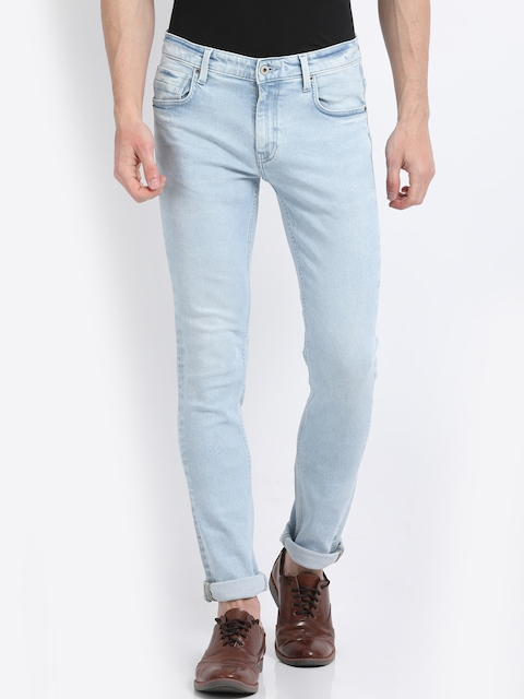 Indian Terrain Men Blue Slim Fit Mid-Rise Clean Look Jeans