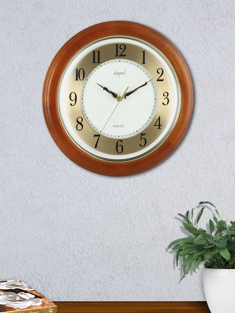 Opal Cream-Coloured Round 38 cm Solid Analogue Wall Clock