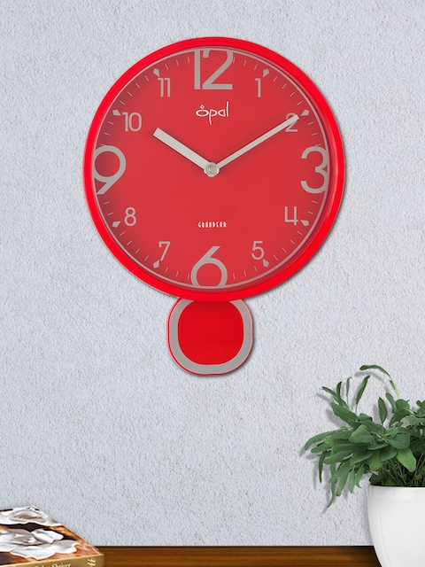 Opal Red Round Solid 40 cm Analogue Wall Clock