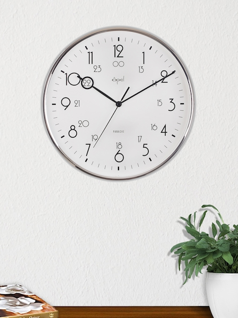 Opal White Round Solid 30.5 cm Analogue Wall Clock