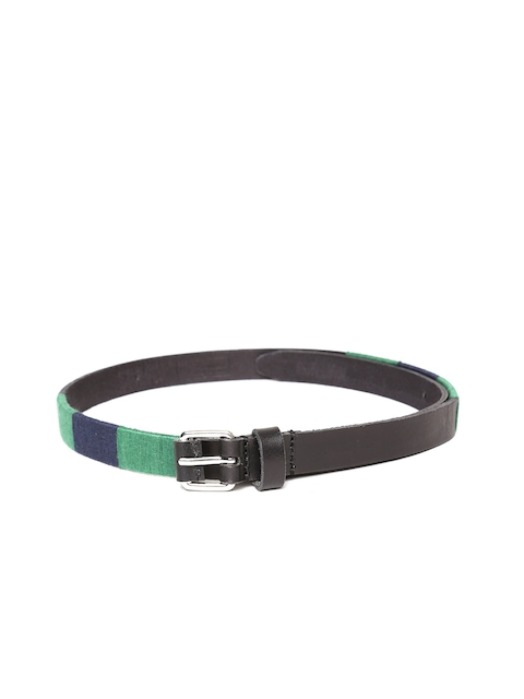 United Colors of Benetton Women Black Solid Leather Belt