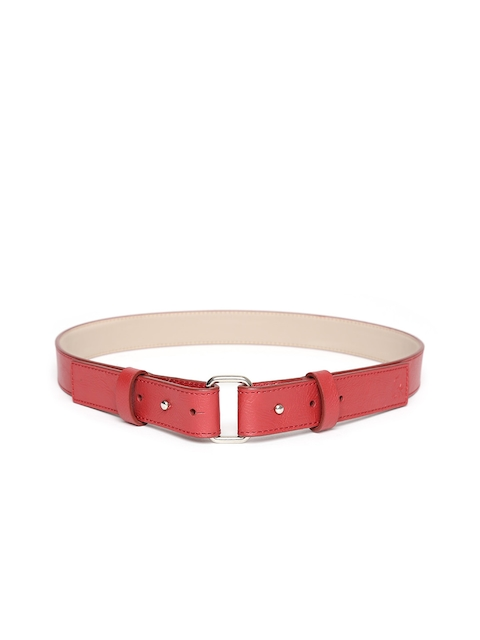 United Colors of Benetton Women Red Leather Solid Belt