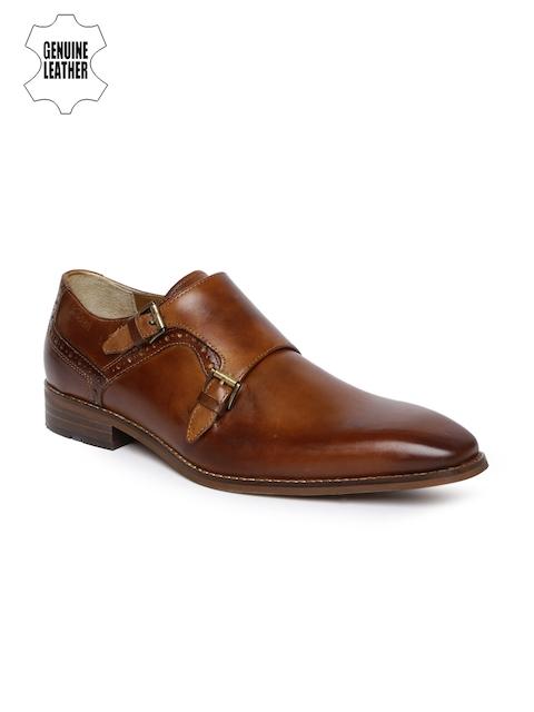 Ruosh Men Tan Brown Monk Shoes