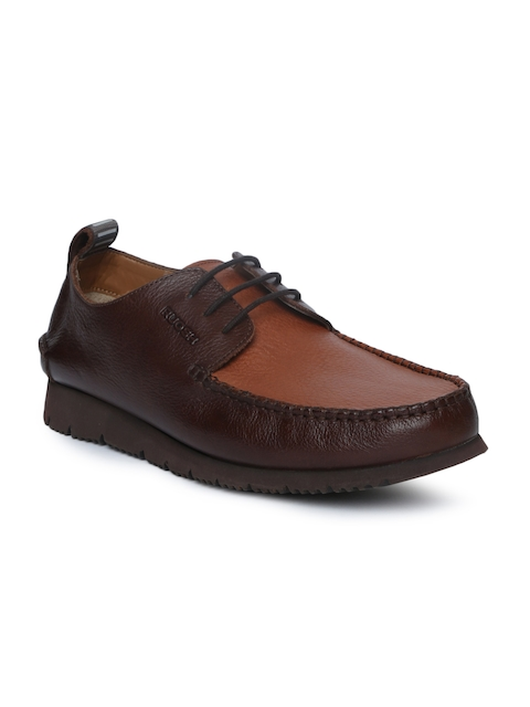 Ruosh Men Brown Leather Flat Boots