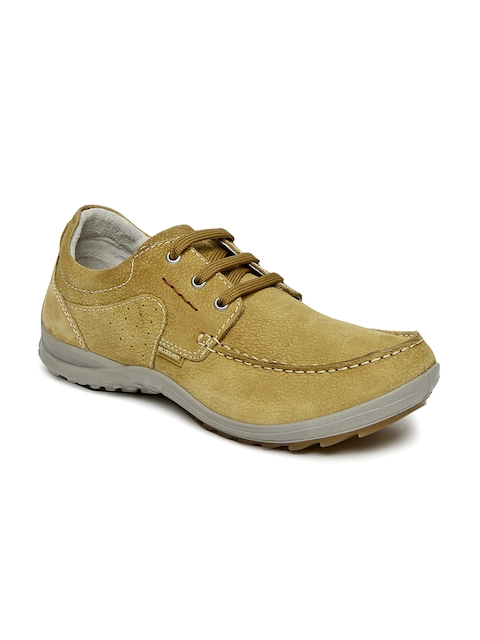 Woodland Men Tan Derbys