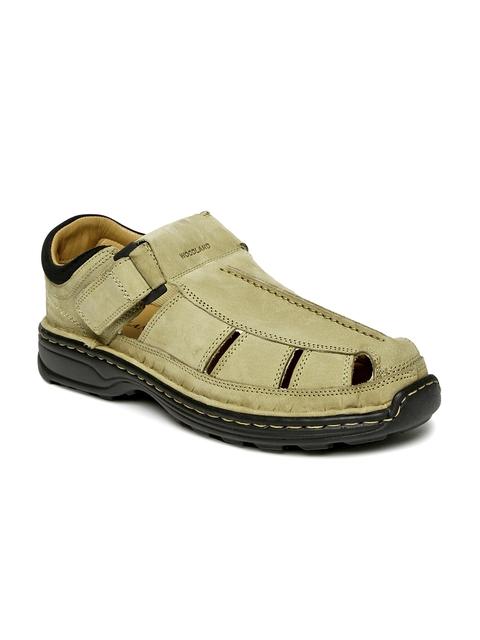 Woodland Men Beige Shoe-Style Sandals