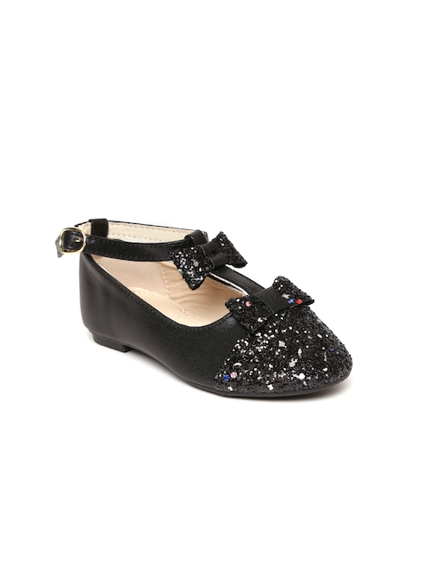 Kittens Girls Black Shimmer Ballerinas