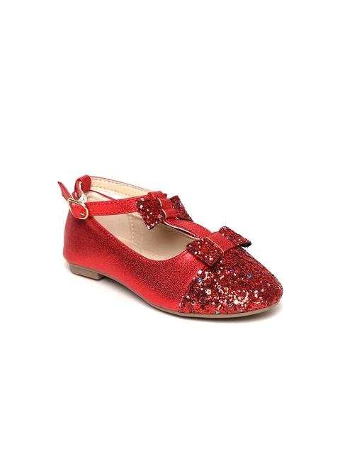 Kittens Girls Red Shimmer Ballerinas