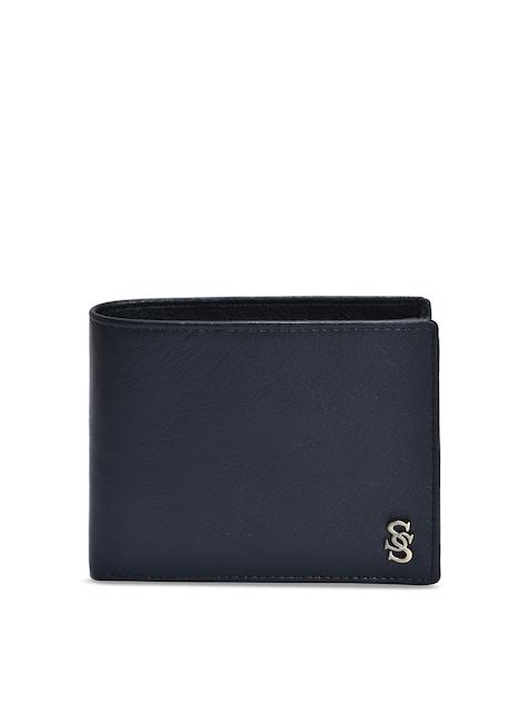 Second SKIN Men Black Solid Two Fold Genuine Leather Wallet