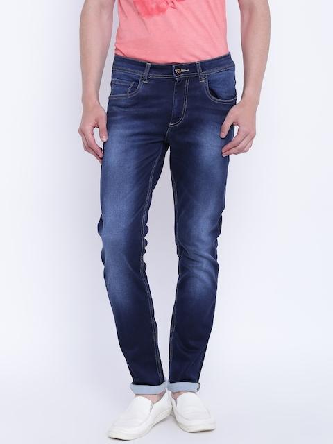 Monte Carlo Men Blue Regular Fit Low-Rise Clean Look Jeans