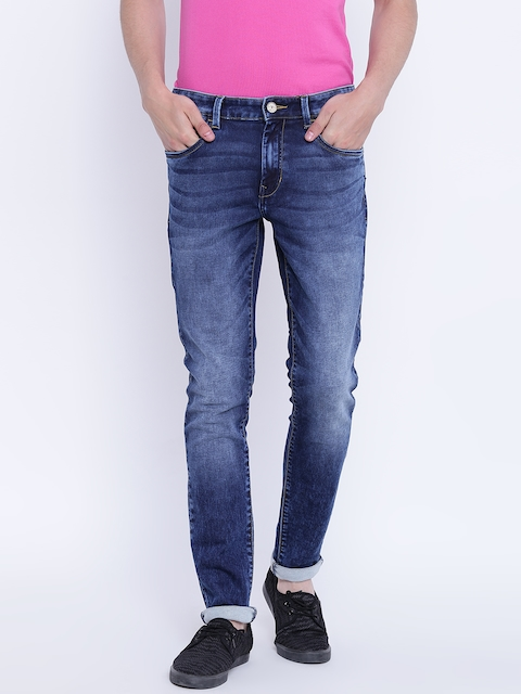 Monte Carlo Men Blue Mid-Rise Clean Look Stretchable Jeans