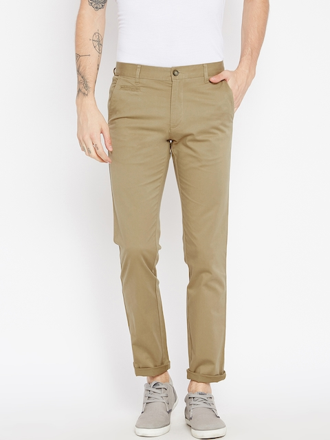 Monte Carlo Men Brown Smart Fit Solid Trousers