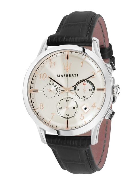 Maserati Men Off-White Analogue Watch