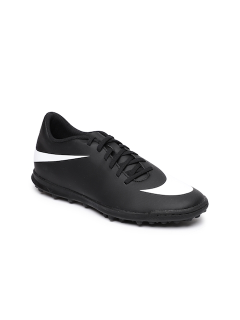 Nike Men Black BravataX II (TF) Turf Football Shoes