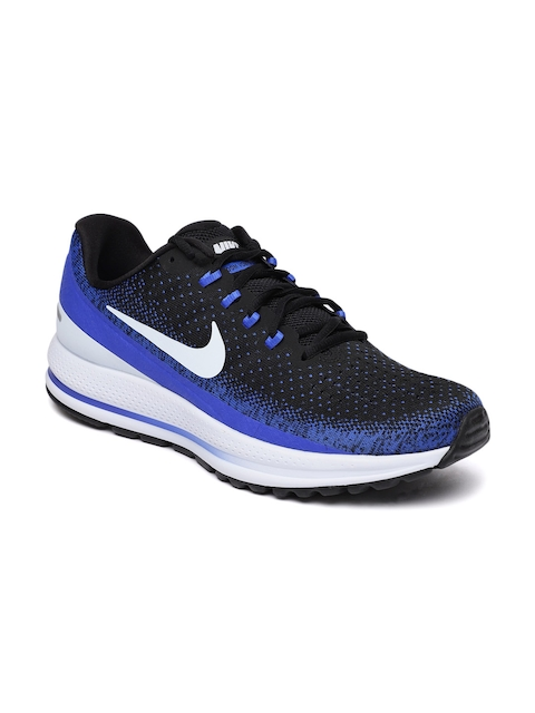 Nike Men Black & Blue Air Zoom Vomero 13 Running Shoes