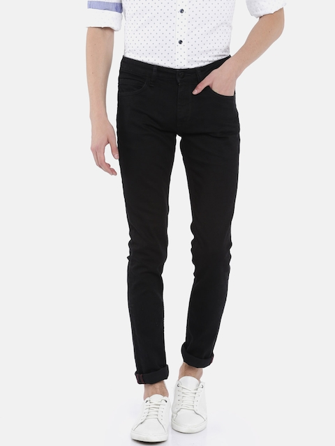Arrow Blue Jean Co. Men Black Skinny Fit Mid-Rise Clean Look Stretchable Jeans