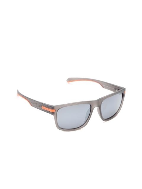 Polaroid Unisex Mirrored Polarised Rectangle Sunglasses 2066/S RIW 55EX