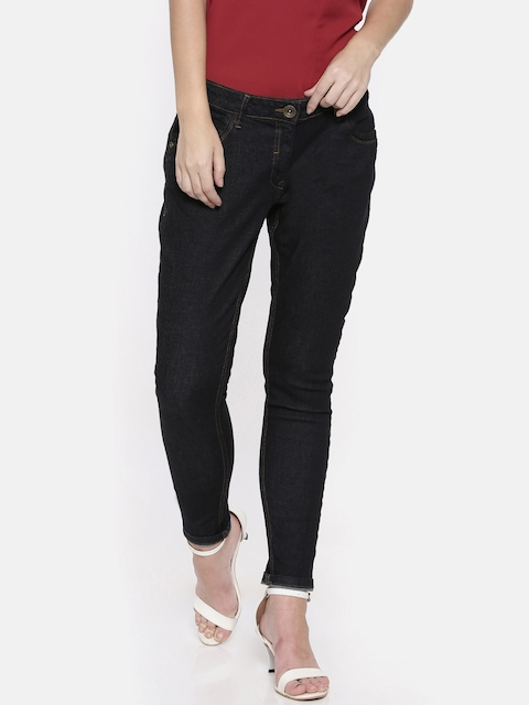 Park Avenue Women Blue Super Skinny Fit Mid-Rise Clean Look Stretchable Jeans