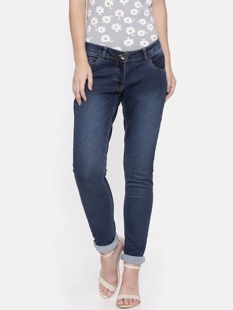 Park Avenue Woman Blue Super Skinny Fit Mid-Rise Clean Look Stretchable Jeans