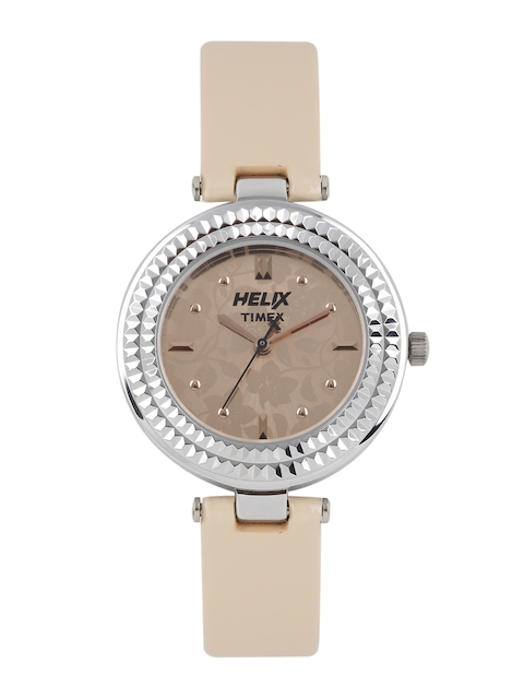 Helix Women Beige Analogue Watch TW033HL00