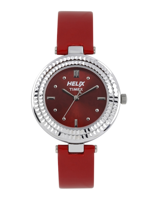 Helix Women Red Printed Analogue Watch TW033HL01