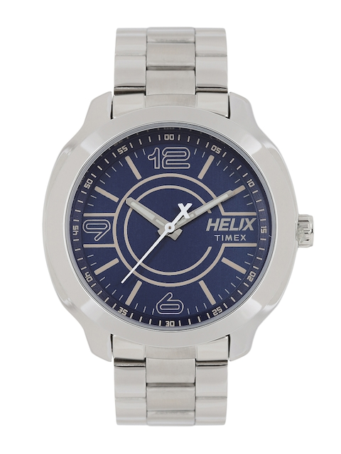 Helix Men Blue Analogue Watch