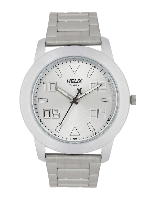 Helix Men Silver-Toned Analogue Watch