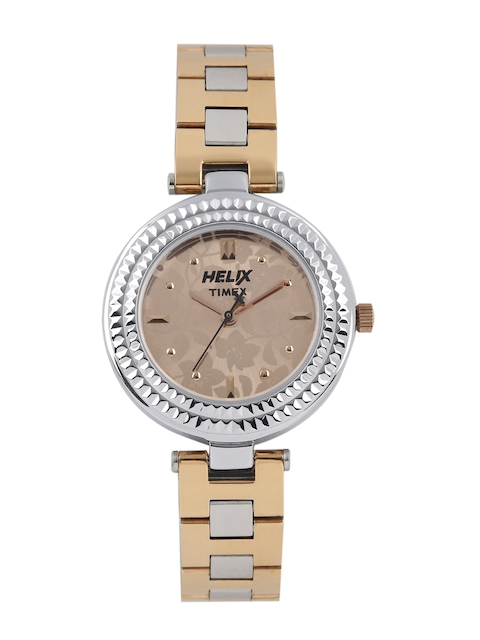 Helix Women Beige Printed Analogue Watch TW033HL05