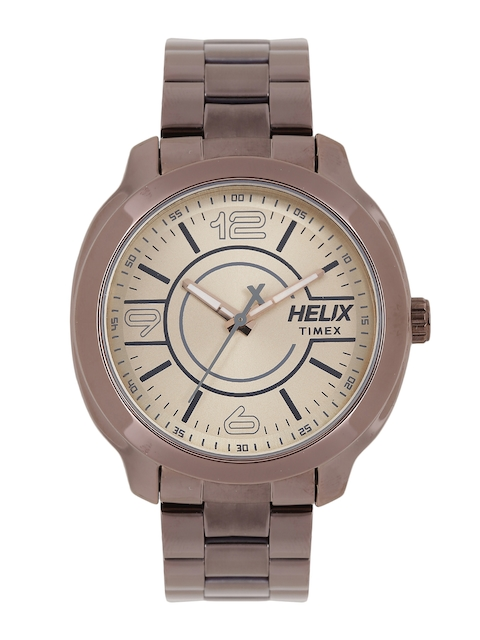 Helix Men Gold-Toned Analogue Watch TW018HG12