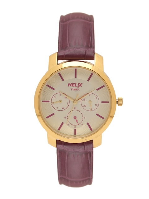 Helix Women Cream-Coloured Analogue Watch TW032HL07