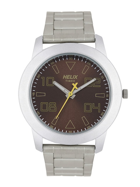 Helix Men Brown Analogue Watch TW028HG04