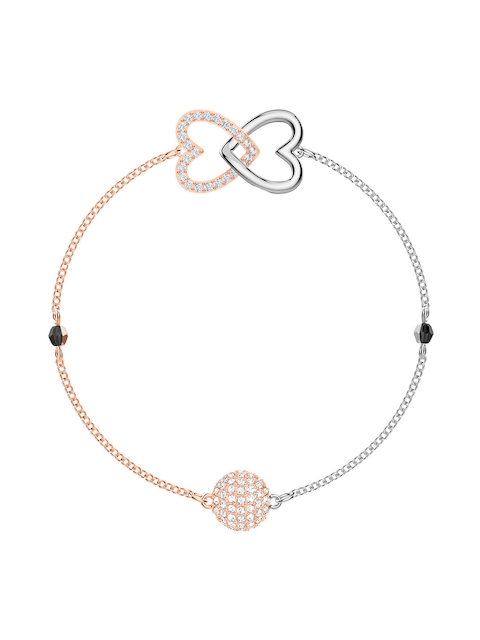SWAROVSKI Silver-Toned Metal Rhodium-Plated Contemporary Bracelet
