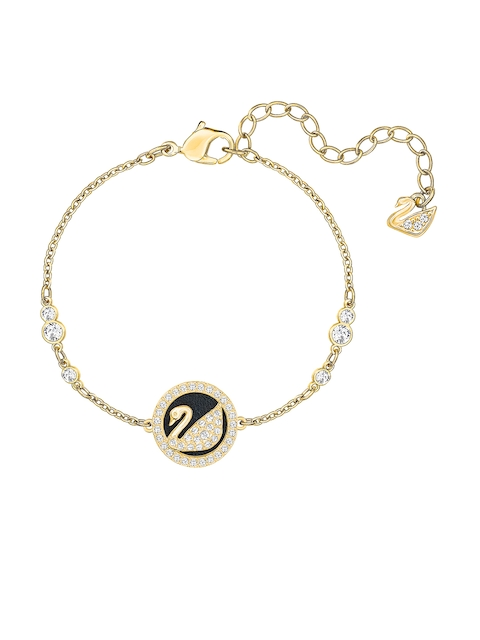 SWAROVSKI Gold-Coloured Engaged Contemporary Bracelet