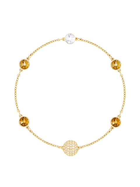 SWAROVSKI Gold-Coloured Engaged Contemporary Bracelet