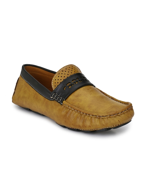 Prolific Men Tan Driving Shoes