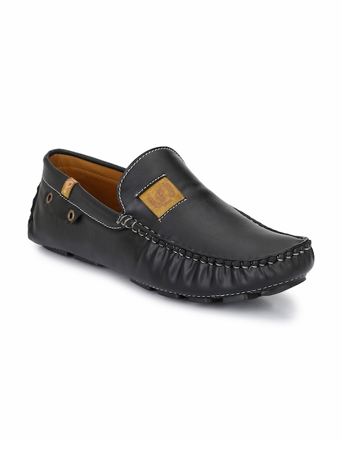Prolific Men Black Driving Shoes