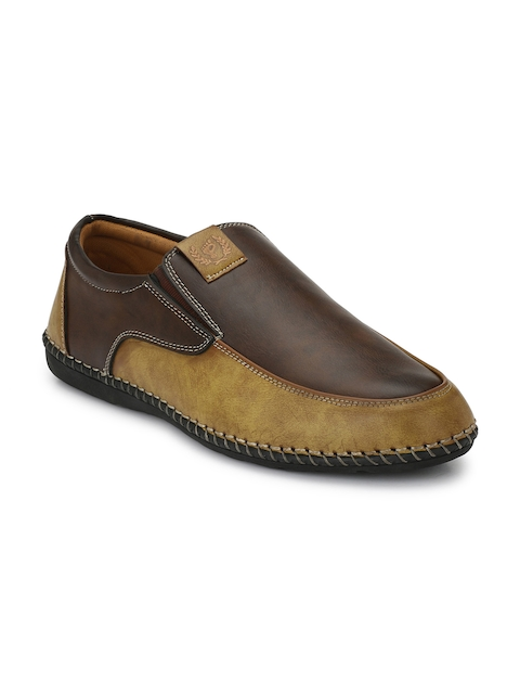 Prolific Men Brown Colourblocked Espadrilles