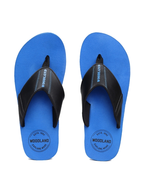 Woodland Men Blue Solid Thong Flip-Flops