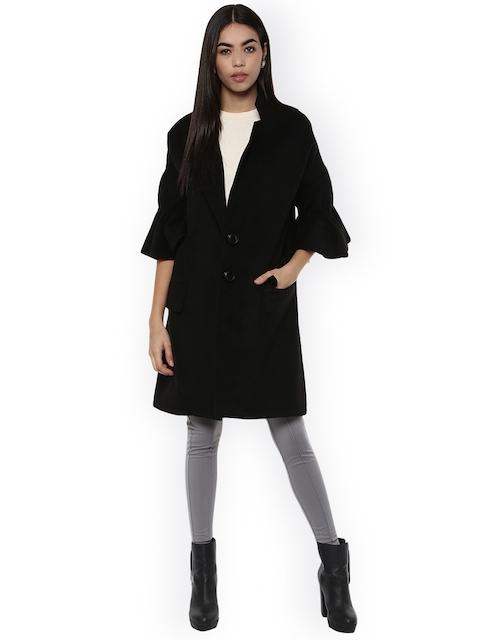 Kazo Black Melanie overcoat