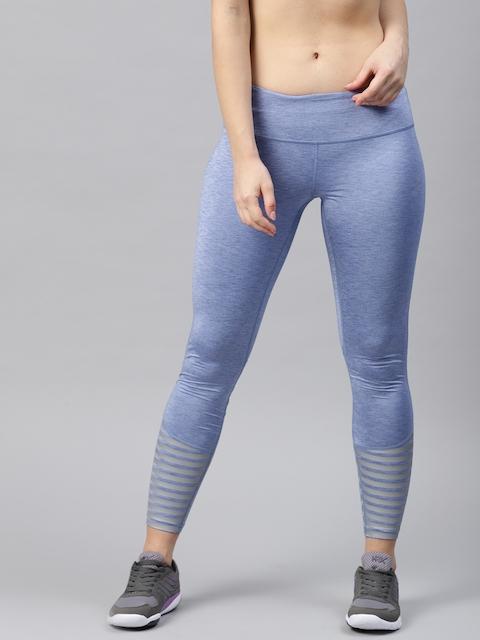 HRX by Hrithik Roshan Women Blue Solid Running Tights