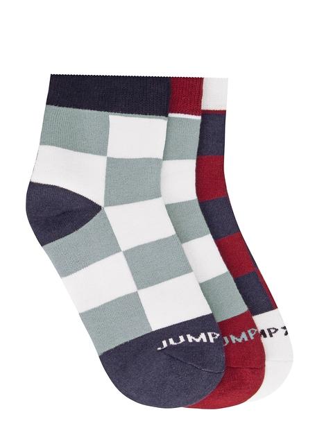 JUMP USA Men Pack of 3 Ankle-Length Socks