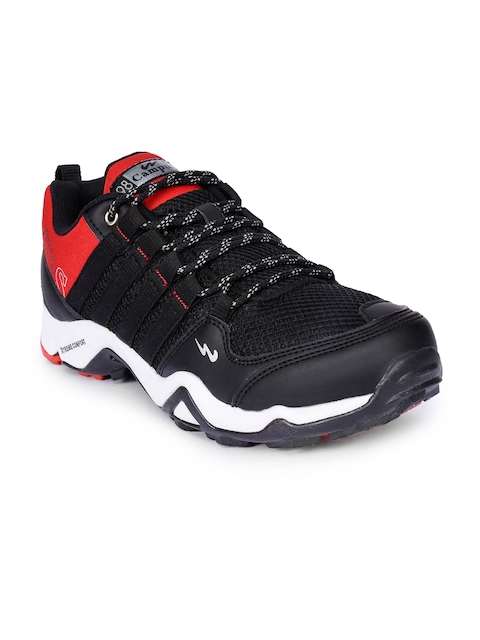 Campus Men Black Trekking Shoes