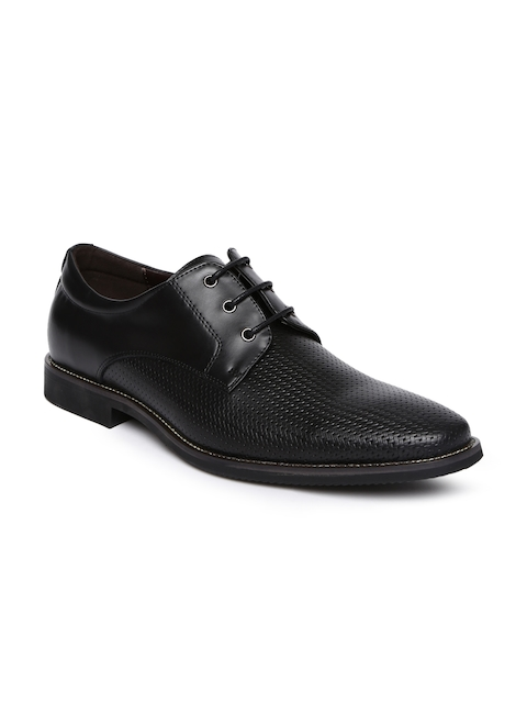 Tresmode Men Black Formal Derby Shoes