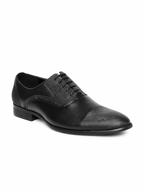 Tresmode Men Black Formal Oxford Shoes
