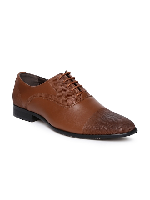 Tresmode Men Brown Formal Oxford Shoes