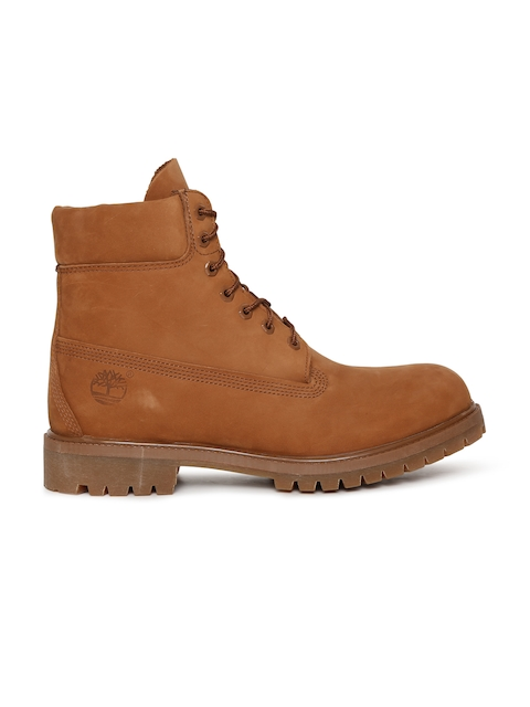 Timberland Men Tan Brown 6 PREM BT WP Leather Boots