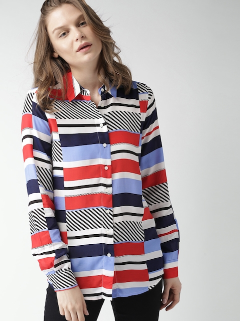 Tommy Hilfiger Women Multicoloured Regular Fit Printed Casual Shirt