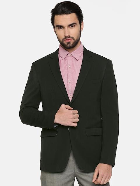 Peter England Black Single-Breasted Neo Slim Fit Formal Blazer