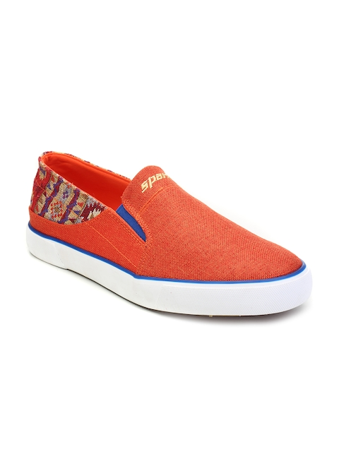 Sparx Women Orange Slip-Ons